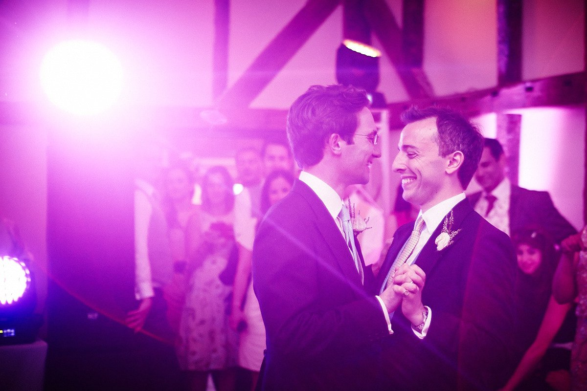 GAY WEDDING AT LOSELEY PARK IN SURREY