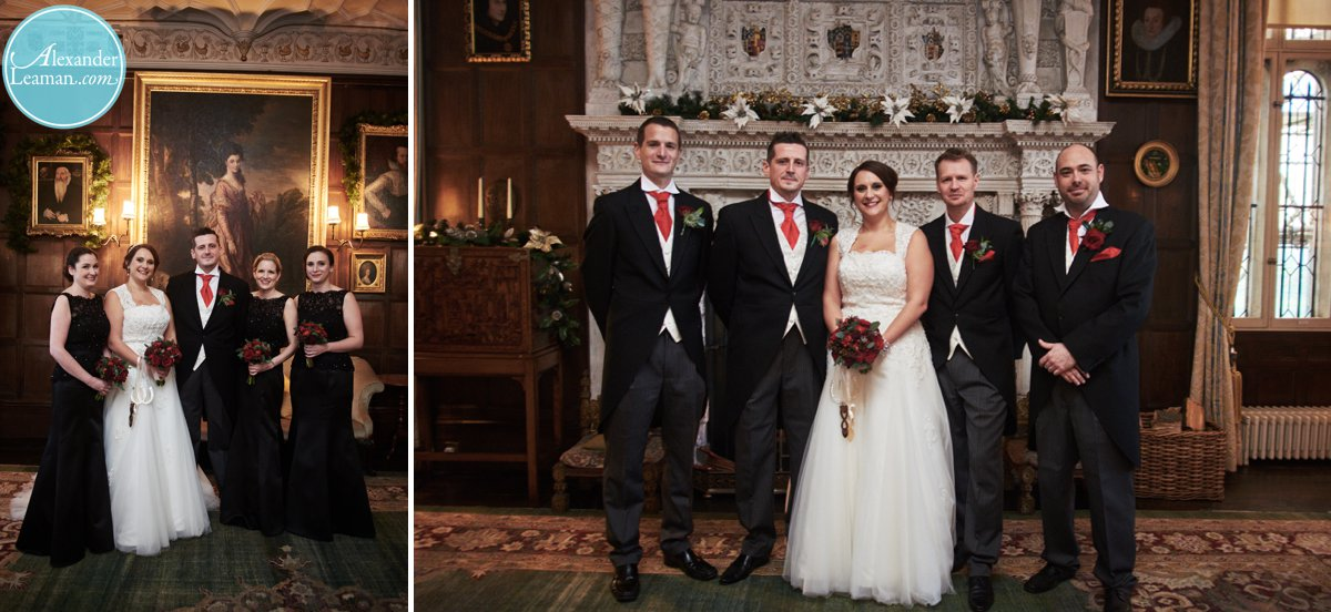 Bridesmaids and groomsmen at Loseley House