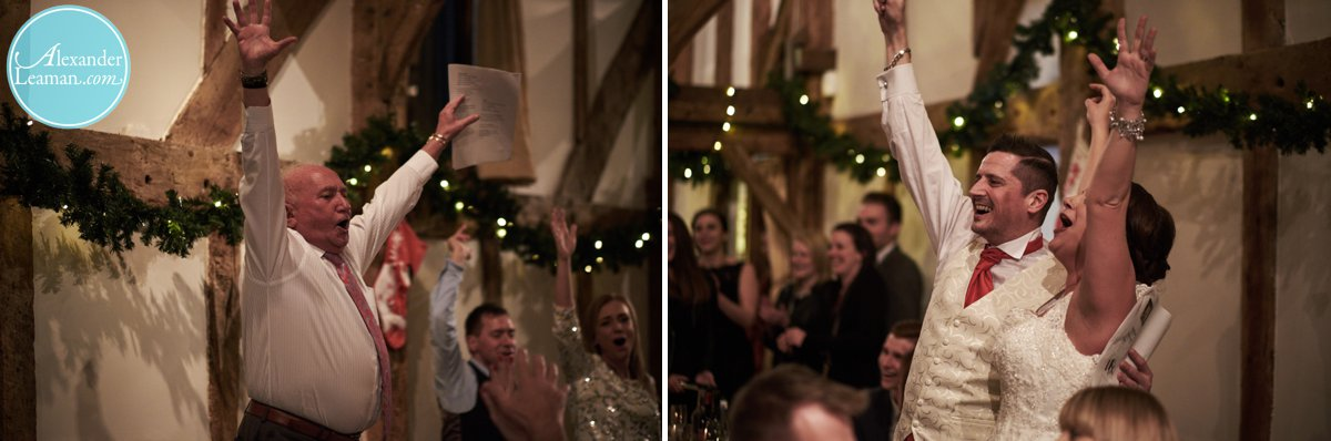 Sing along at a wedding reception