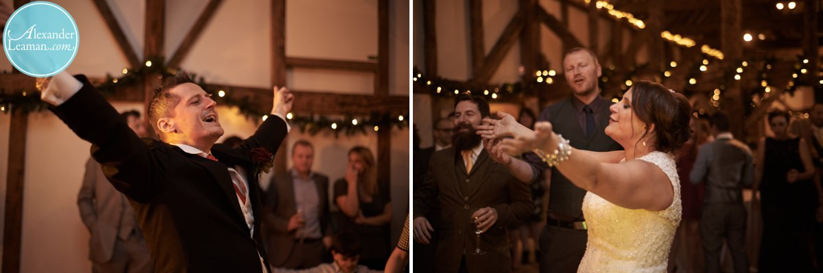 party time at a barn wedding