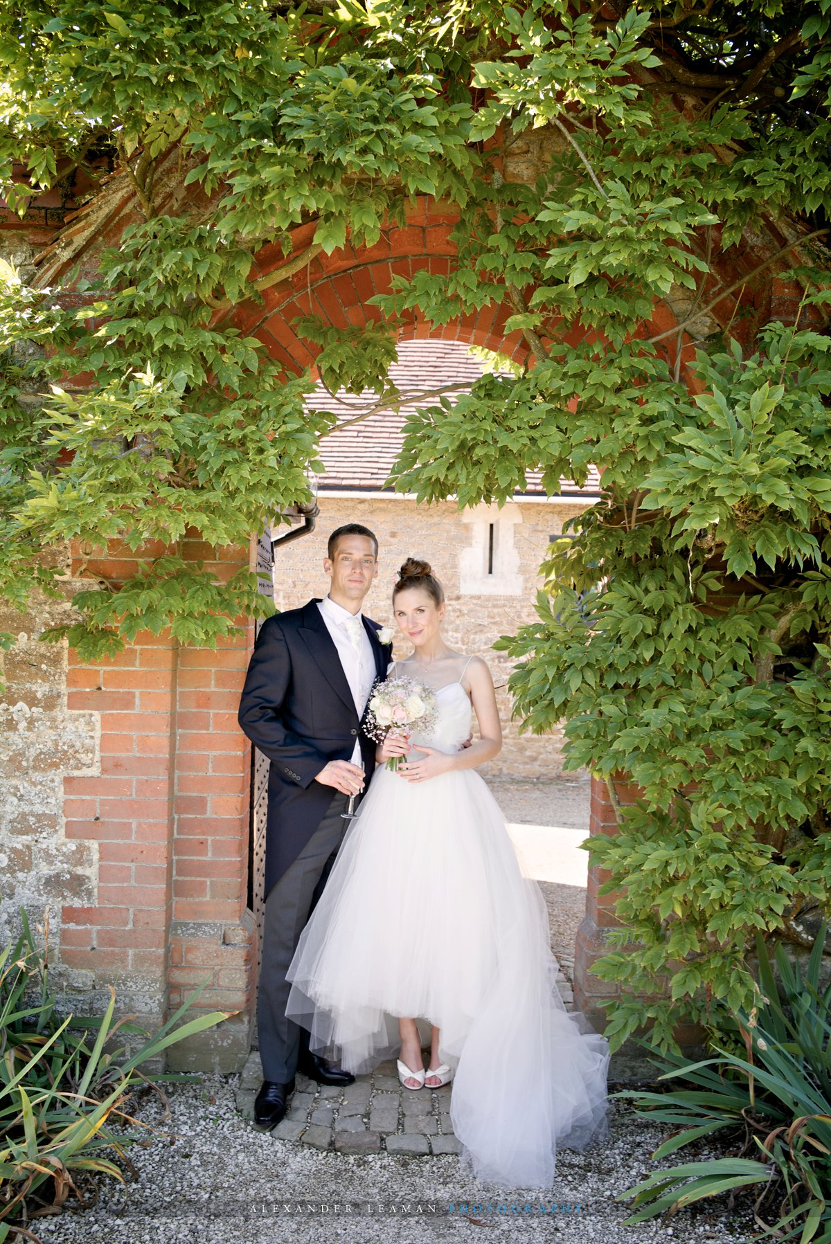 Stunning Bride and Groom at Loseley Park